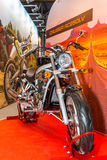 Motopark-2015 (BikePark-2015). The exhibition stand of Racer. The motorcycle Racer Cruiser RC250LV. Royalty Free Stock Photo