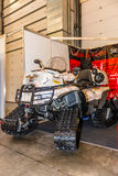Motopark-2015 (BikePark-2015). The exhibition stand of the studio GL-Audio. The ATV on tracks. Stock Photo