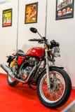Motopark-2015 (BikePark-2015). The motorcycle (bike) Royal Enfield. Royalty Free Stock Photography