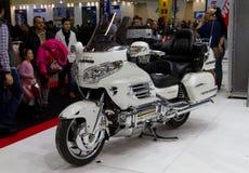 Motoplus Eurasia Moto Fahrrad-Ausstellung lizenzfreies stockbild