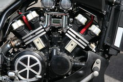 Motor. New motorbike motor with shiny details Royalty Free Stock Photos