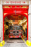 Motor 14 del cuerpo de bomberos de Nueva York. Imagenes de archivo