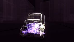 Motor abstracto del camión 3D