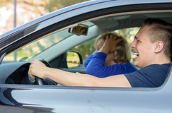 Motor accident about to happen Stock Photo
