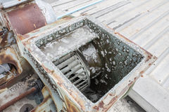 Motor of air duct Stock Image