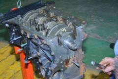 Motor av det diesel- anseendet Fotografering för Bildbyråer