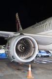 Motor av det moderna passagerarestrålflygplanet Royaltyfria Foton