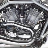 Motor av en motorbike Royaltyfri Fotografi