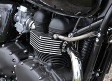 Motor av en motorcykel Fotografering för Bildbyråer