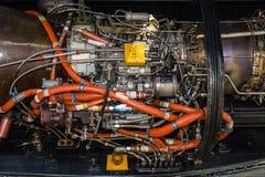 Motor av för Sikorsky CH-53 för skurkroll-elevator lasthelikopter hingsten hav Arkivfoto