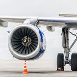 Motor av flygplan Royaltyfri Foto