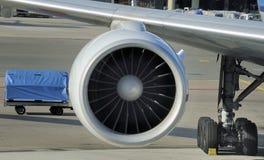 Motor av flygplanet Arkivbilder