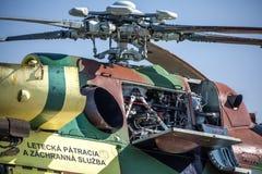 Motor av helikoptern Mil Mi-17 Royaltyfri Bild