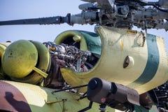 Motor av helikoptern Mil Mi-17 Royaltyfria Bilder
