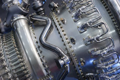 Motor av jaktflygplanet Arkivfoto