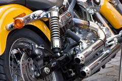 Motor bike. Close up. Focus on the body Royalty Free Stock Photography