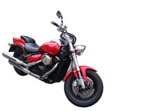 Motor bike. Isolated motorcycle with nice chrome parts Stock Photography