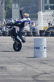 Motor bike acrobatics Royalty Free Stock Photography