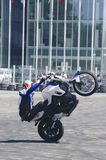 Motor bike acrobatics Royalty Free Stock Photos