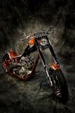 Motor bike against backdrop Royalty Free Stock Photos