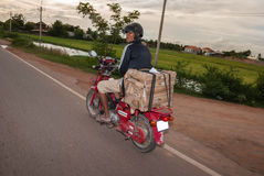 Motor Bike, Cambodia Stock Photos