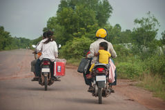 Motor Bike, Cambodia Royalty Free Stock Photos
