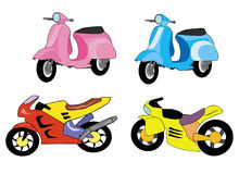 Motor bike cartoon Stock Images