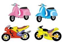 Motor bike cartoon Stock Images