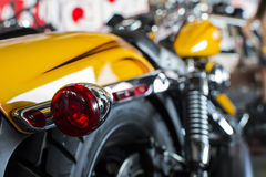 Motor bike detail. Close up of a high power motorcycle stock image