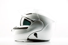 Motor bike helmet for road safety. On white background Royalty Free Stock Images