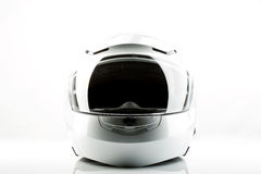 Motor bike helmet for road safety. On white background Royalty Free Stock Image
