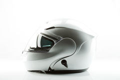 Motor bike helmet for road safety. On white background Royalty Free Stock Photo