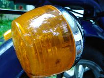 Motor bike signal light stock photos
