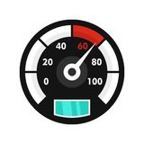 Motor bike speedometer icon, flat style vector illustration