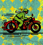 Motor biker Royalty Free Stock Photo
