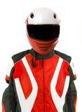 Motor Biker with Helmet Stock Photo