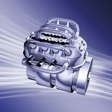 Motor blue Stock Image