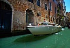 A motor boat Royalty Free Stock Photo