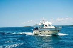 Motor boat. Cruising the sea Royalty Free Stock Image