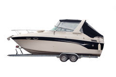 Motor Boat. Separately on a white background Stock Photo