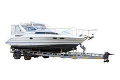 Motor Boat. Motor Boat separately on a white background Stock Photos