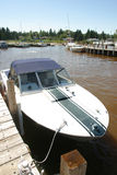 Motor Boat. A motot boat tied up at the dock Stock Photography