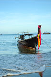 Motor boat on beach of Krabi Royalty Free Stock Images