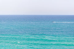 Motor boat on blue sea Royalty Free Stock Photos