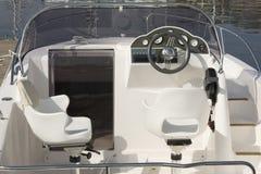 Motor boat cockpit Stock Image