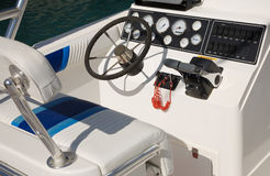 Motor boat control panel Stock Images
