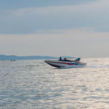Motor boat driving motion (Speed boat) Stock Image