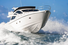 Motor boat. Impressive Motor boat in navigation stock photo