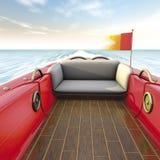Motor boat interiors Stock Image