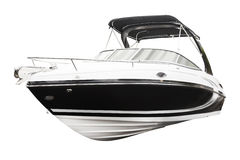 Motor boat. Isolated over white background Stock Images
